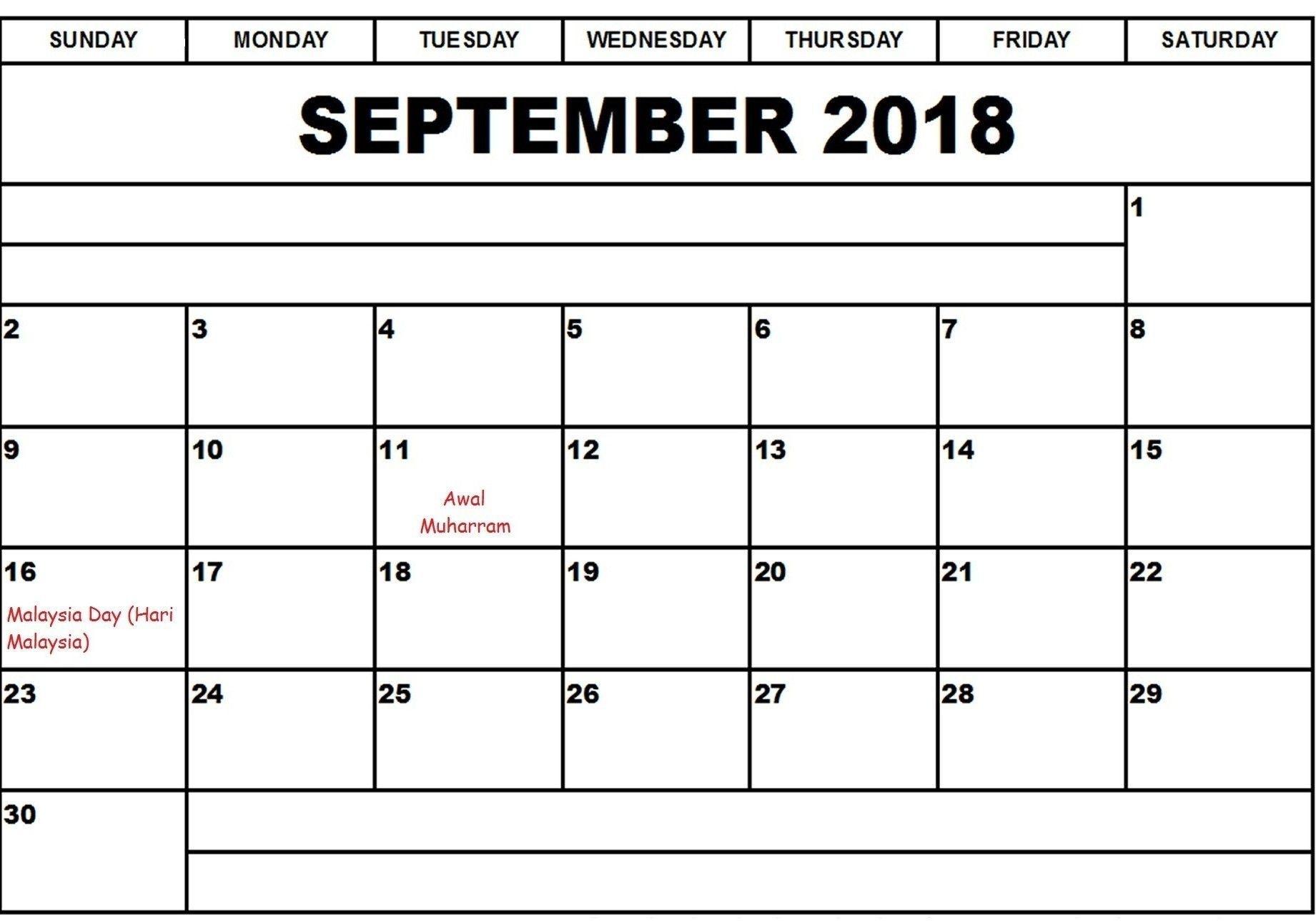 Pick Blank Standard Calendar