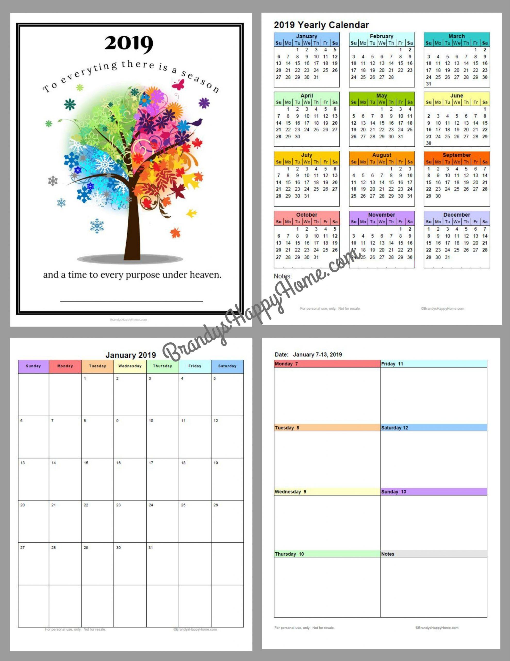 Pick Blannk Printable Calendar For 3 Ring Binder