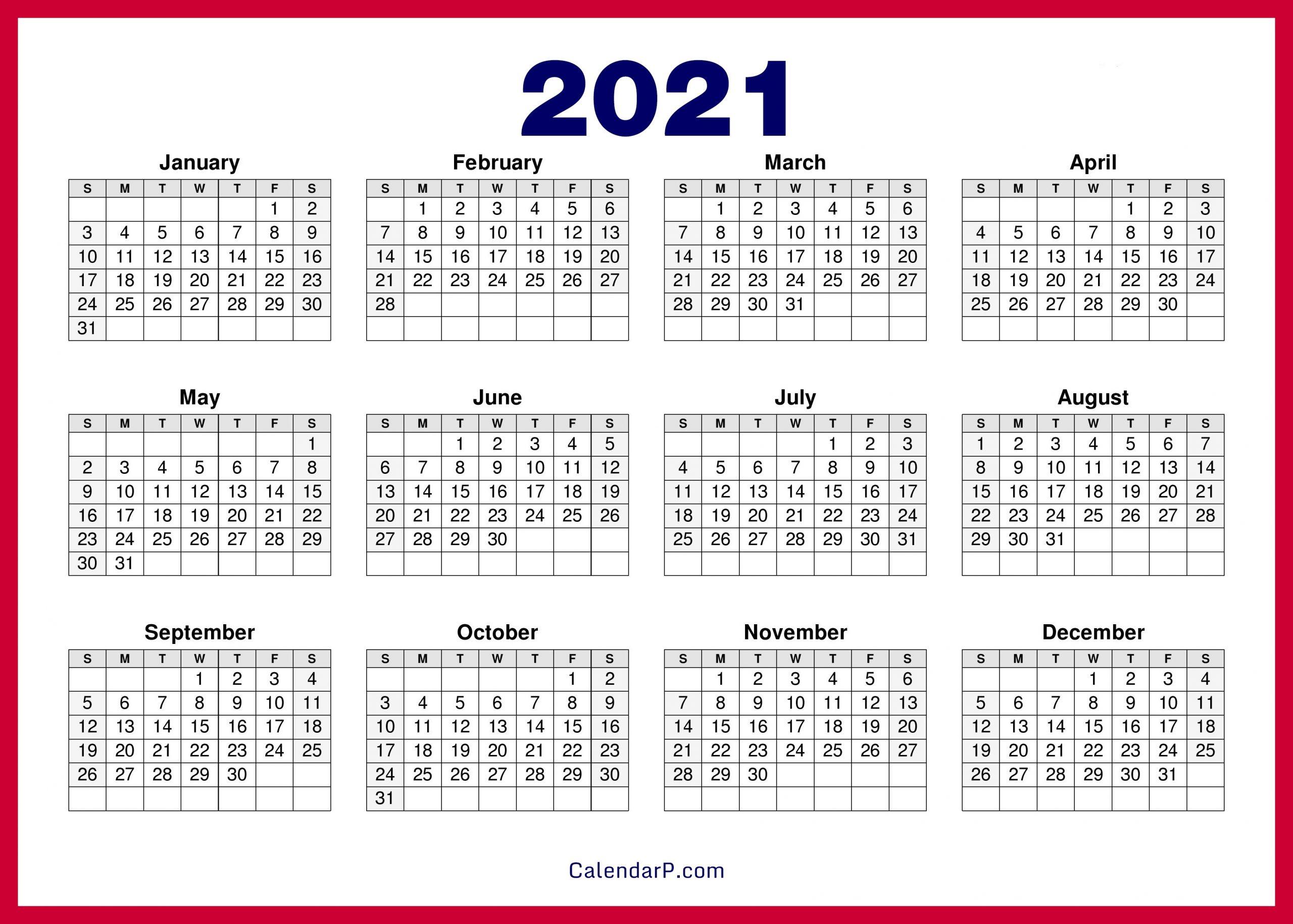 Pick Calendar 2021 Hd
