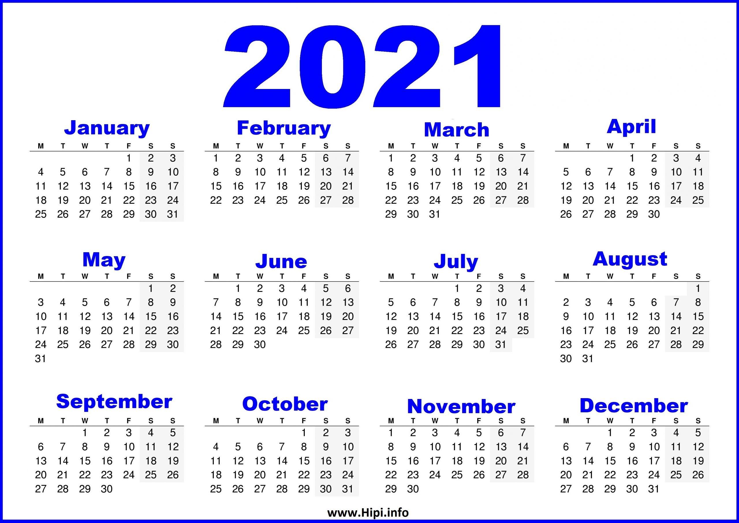 Pick Calendar 2021 Uk