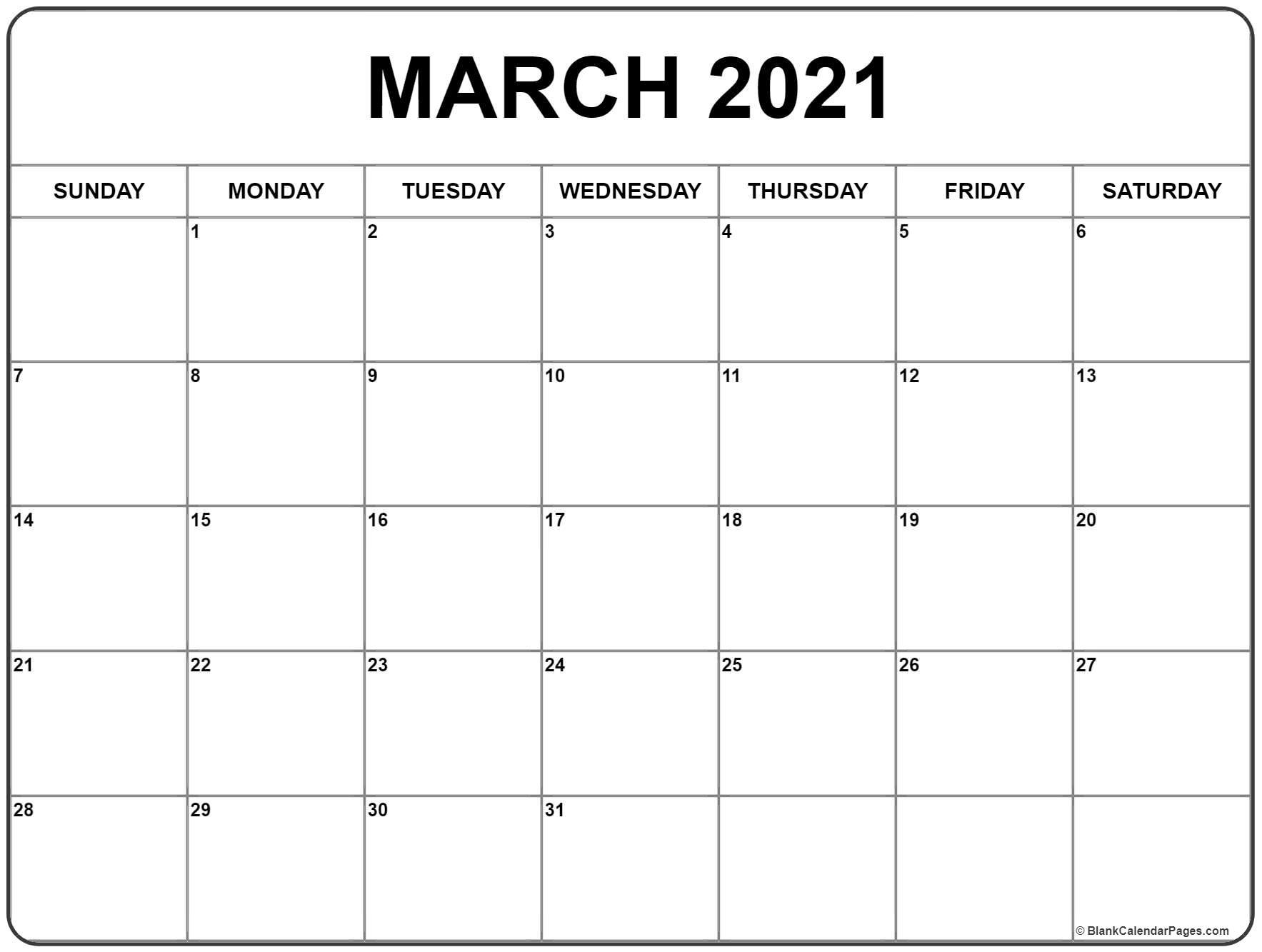Pick Calendar April 2021 March 2021