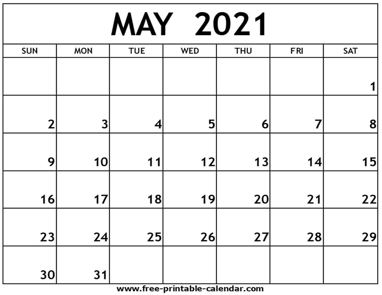 Pick Calendar April May 2021