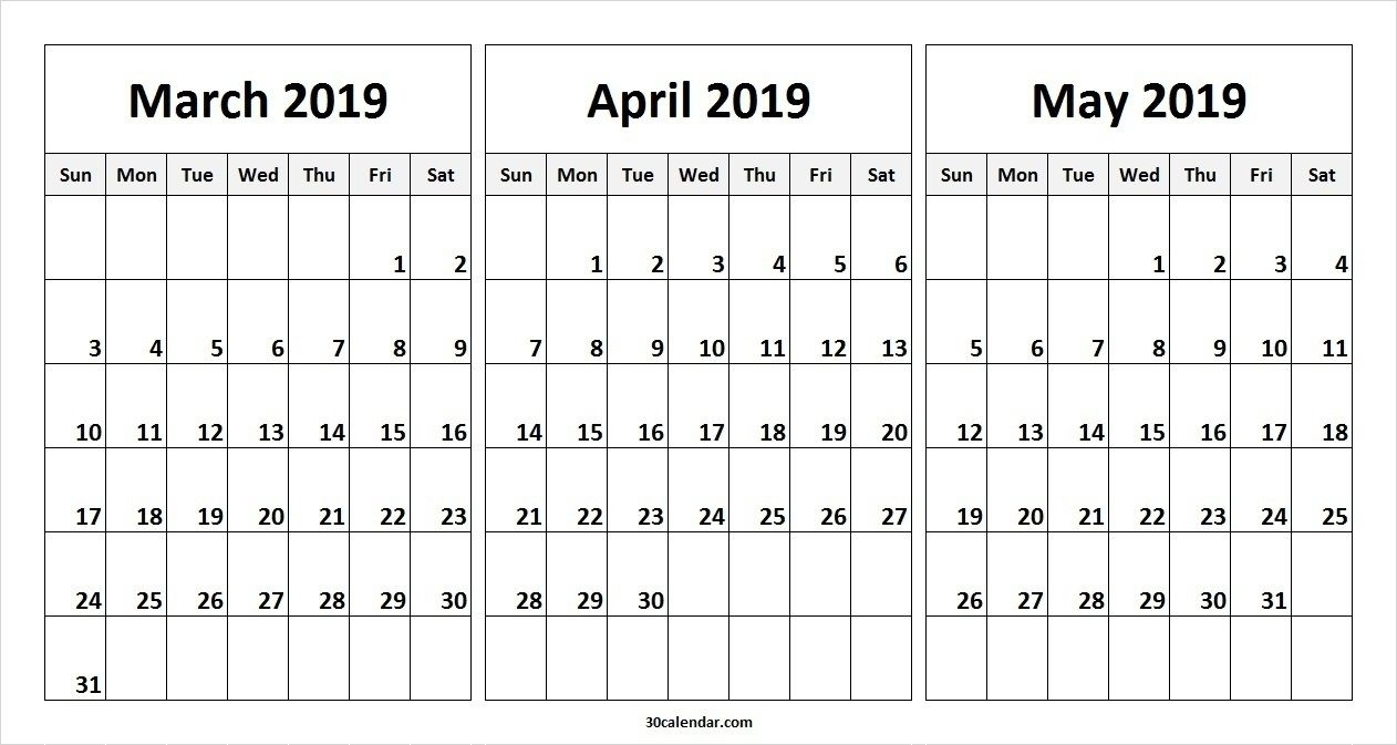 Pick Calendar April To March