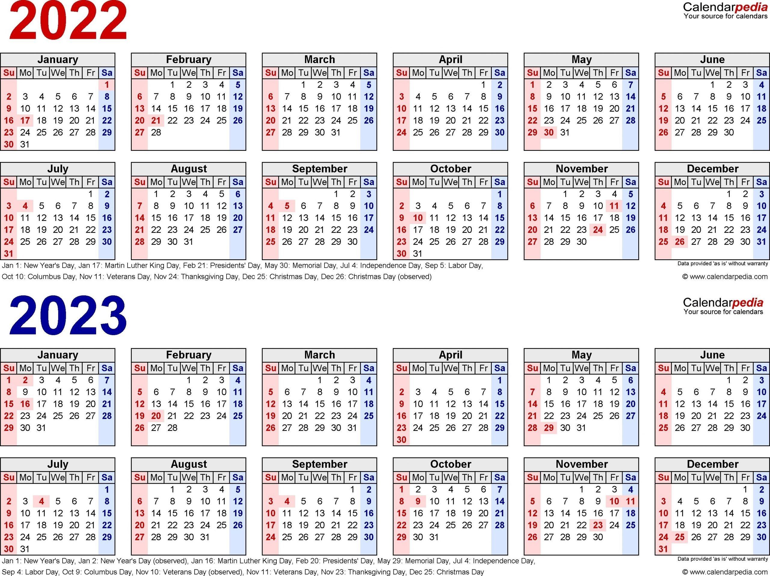 Pick Calendar For 2022 & 2023