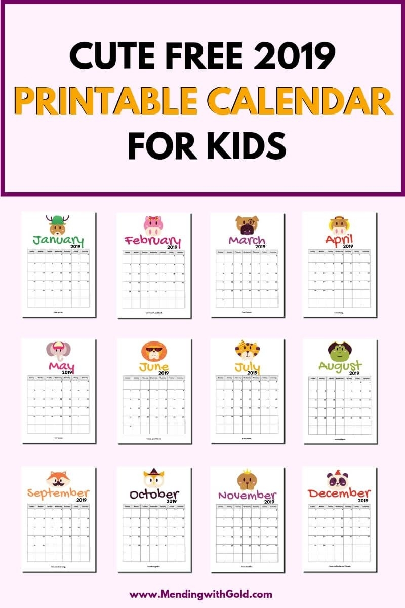 Pick Calendar Free Printable For Kids