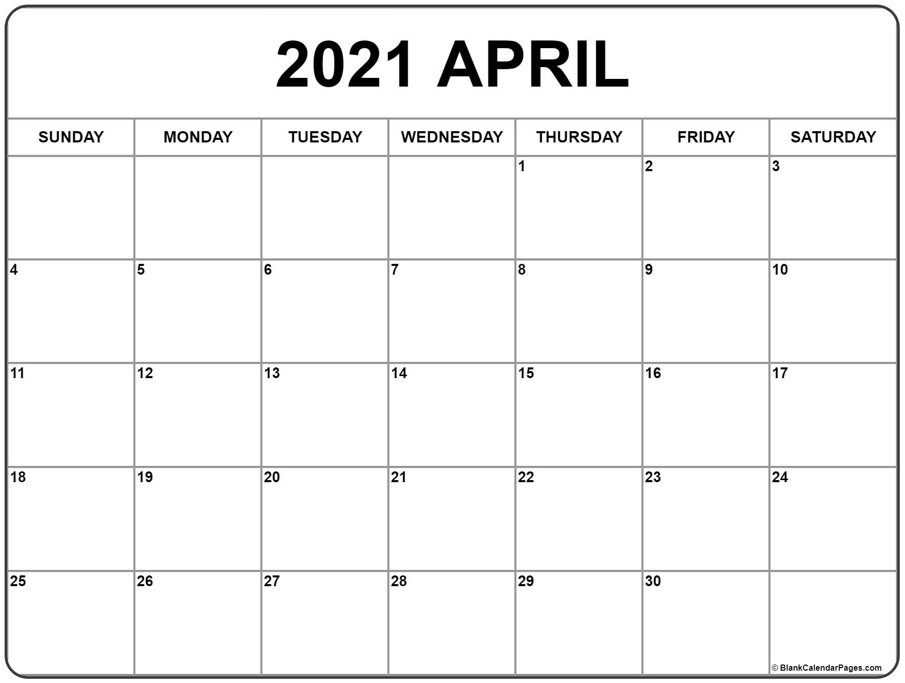 Pick Calendar Jan To April 2021