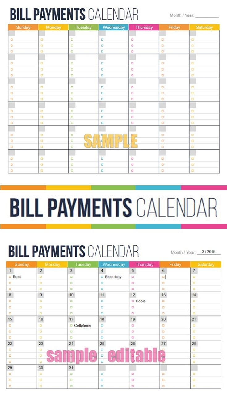 Pick Calendar Month Payments