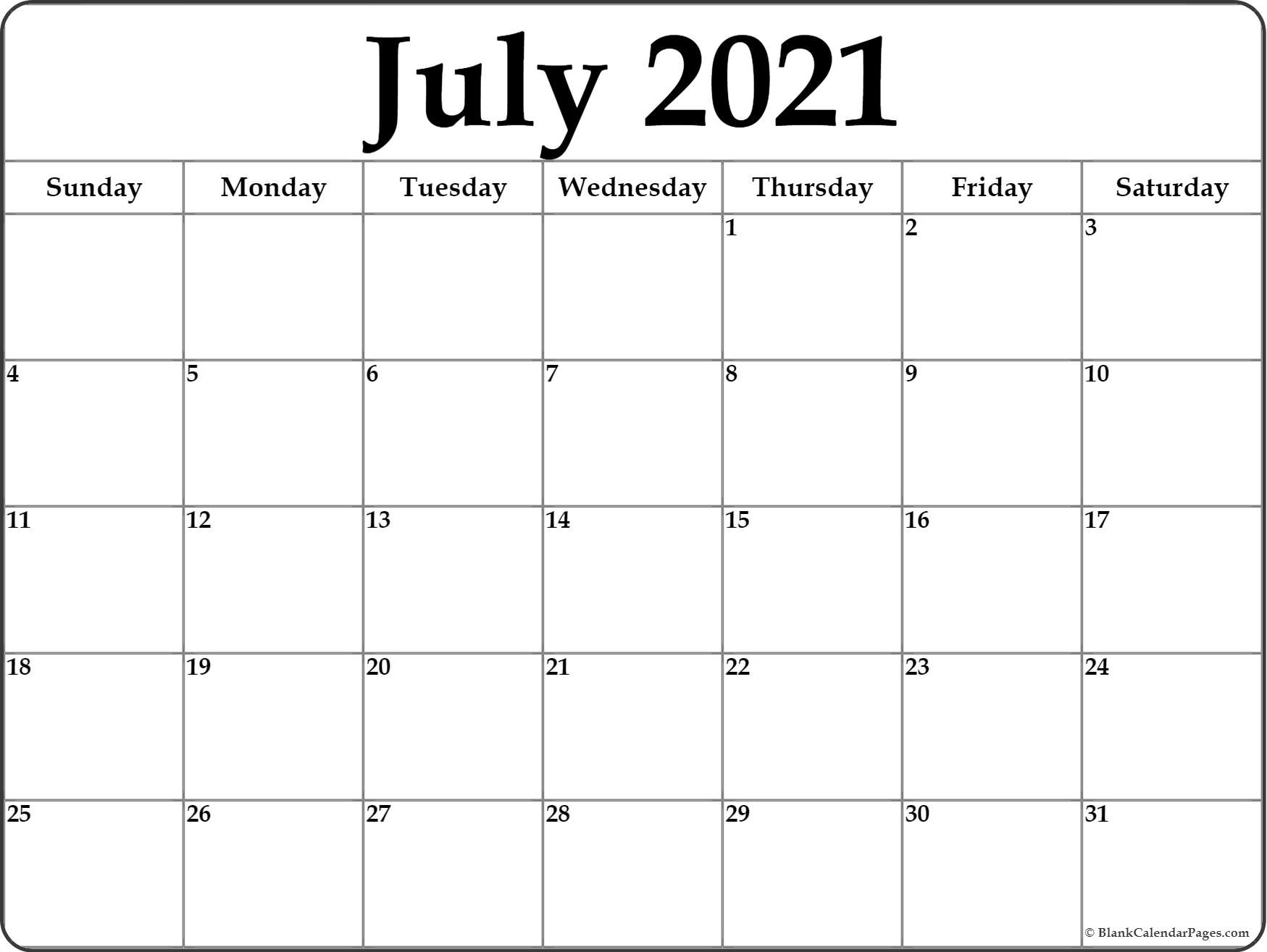 Pick Calendar Page 2021 June And July