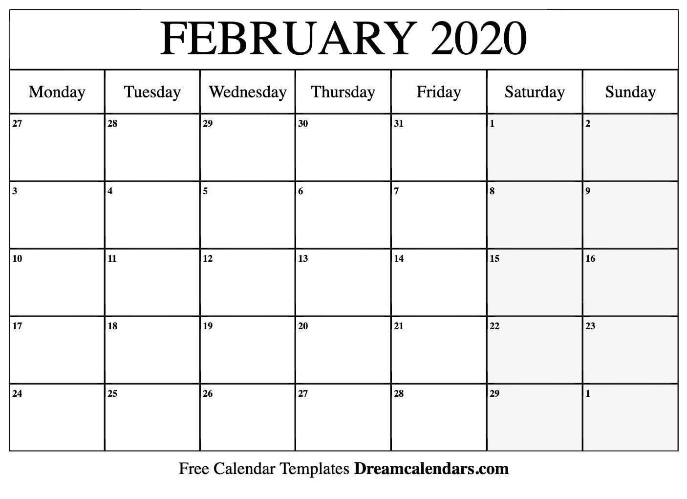 Pick Calendar Print Monday