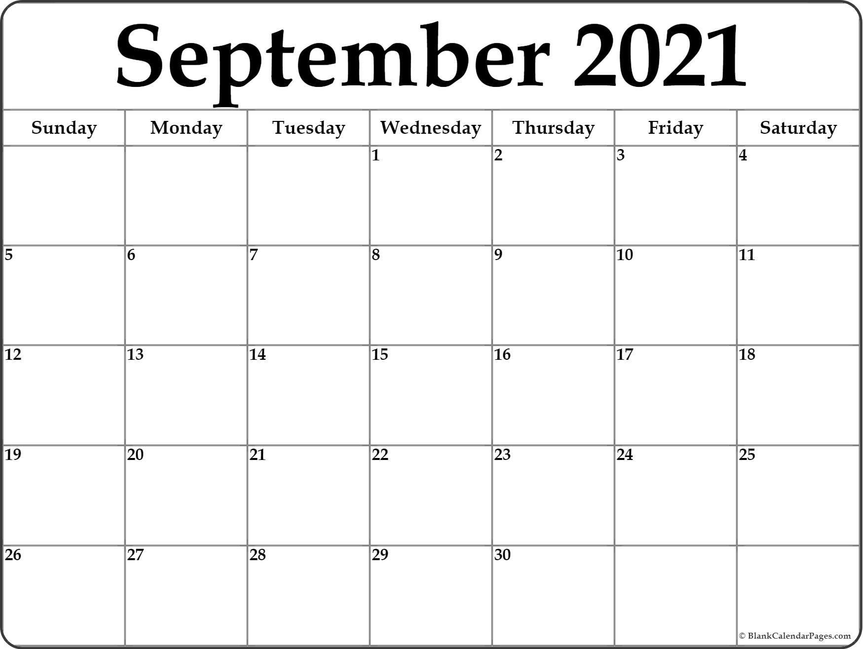 Pick Calendar September October 2021
