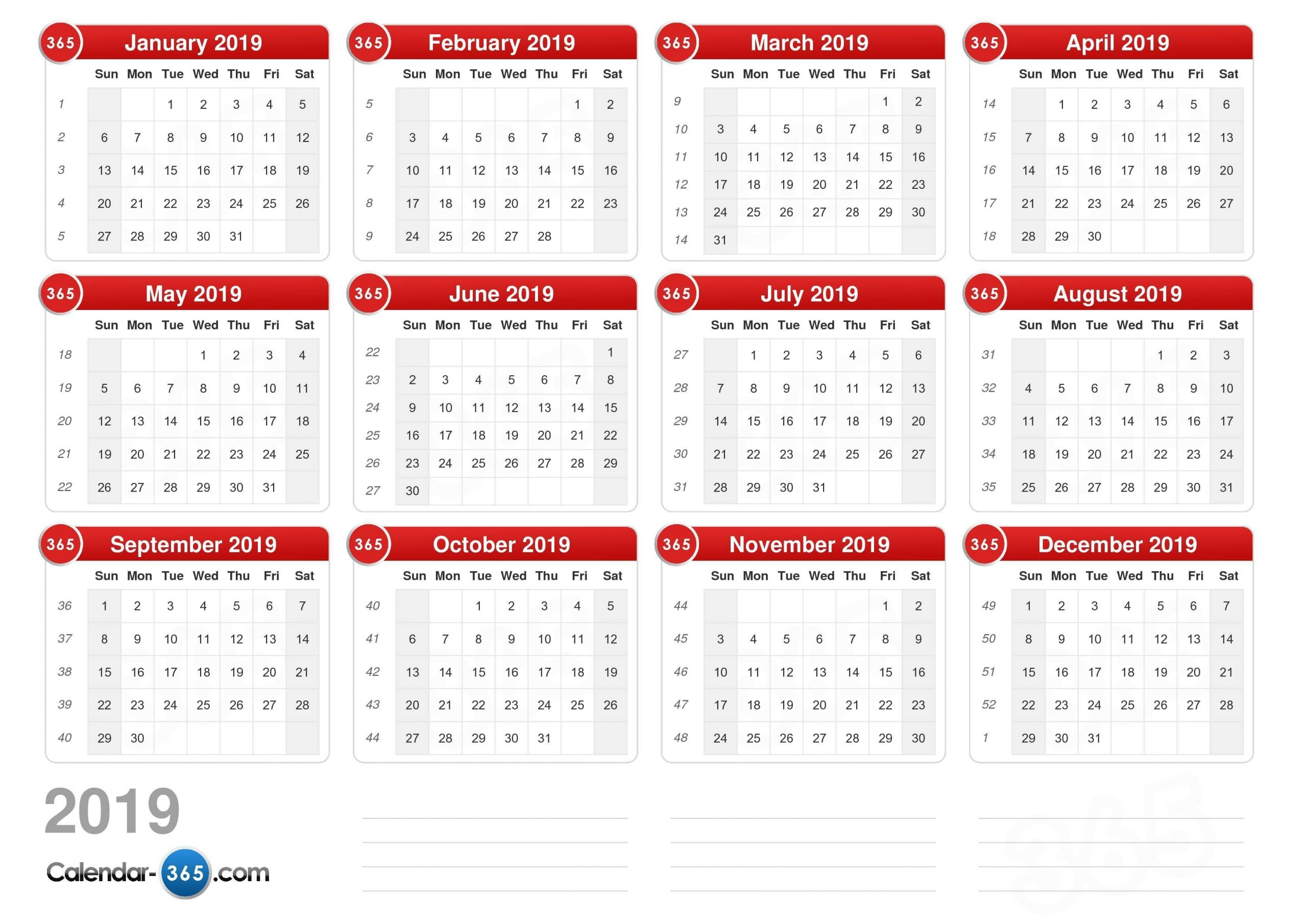 Pick Calendar With Days Numbered 2021