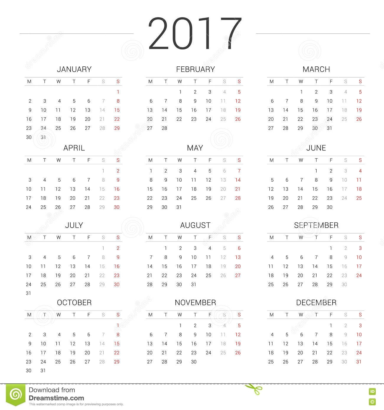 Pick Calendar With Week Starting On A Monday