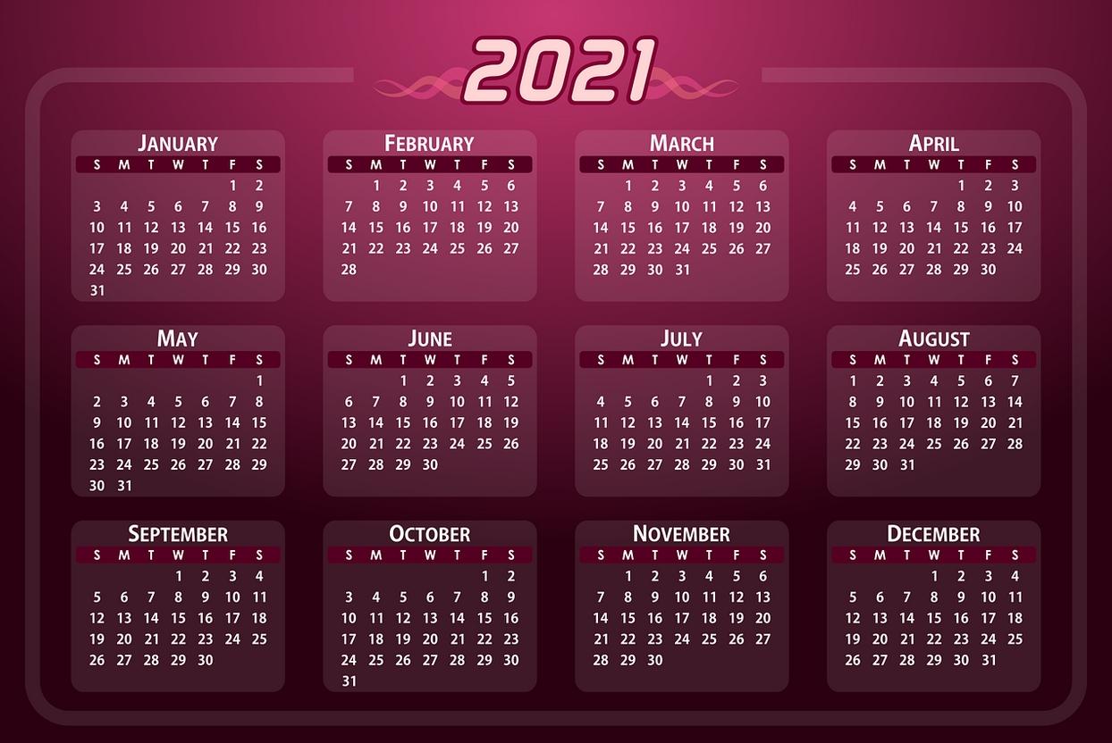Pick Calendar Zile Lucratoare 2021