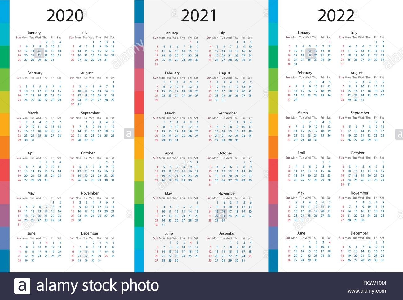 Pick Calendars For The Years 2021 2021 & 2022
