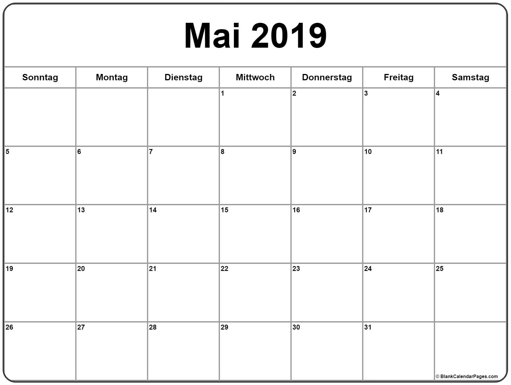 Pick Calender Vorlage Monat