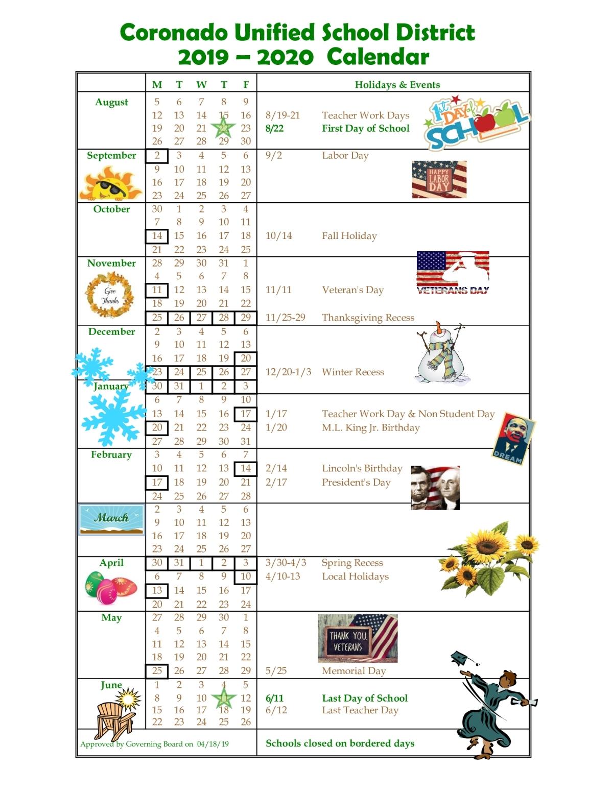 Pick Chula Vista Elementary School Calendar 2021