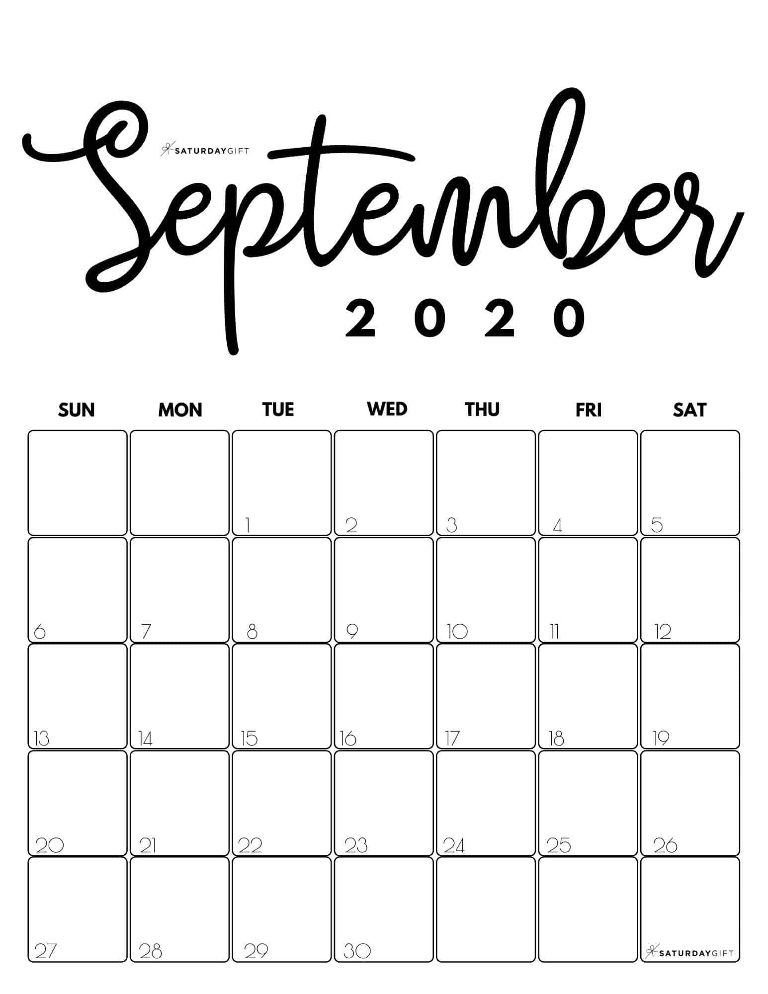 Pick Clip Art Calendar Page Septeber 2021
