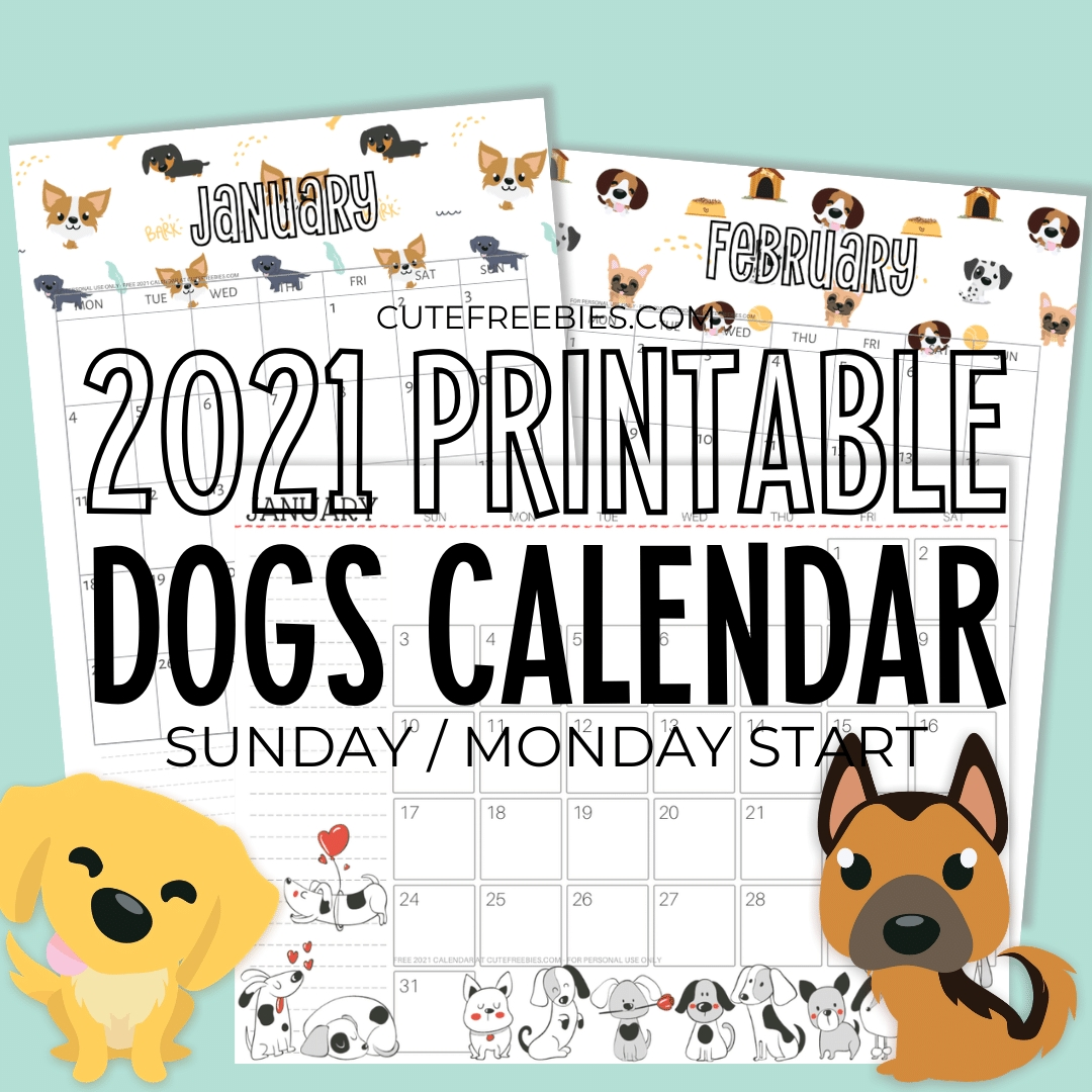 Pick Cute 2021 Printable Calendar By Month