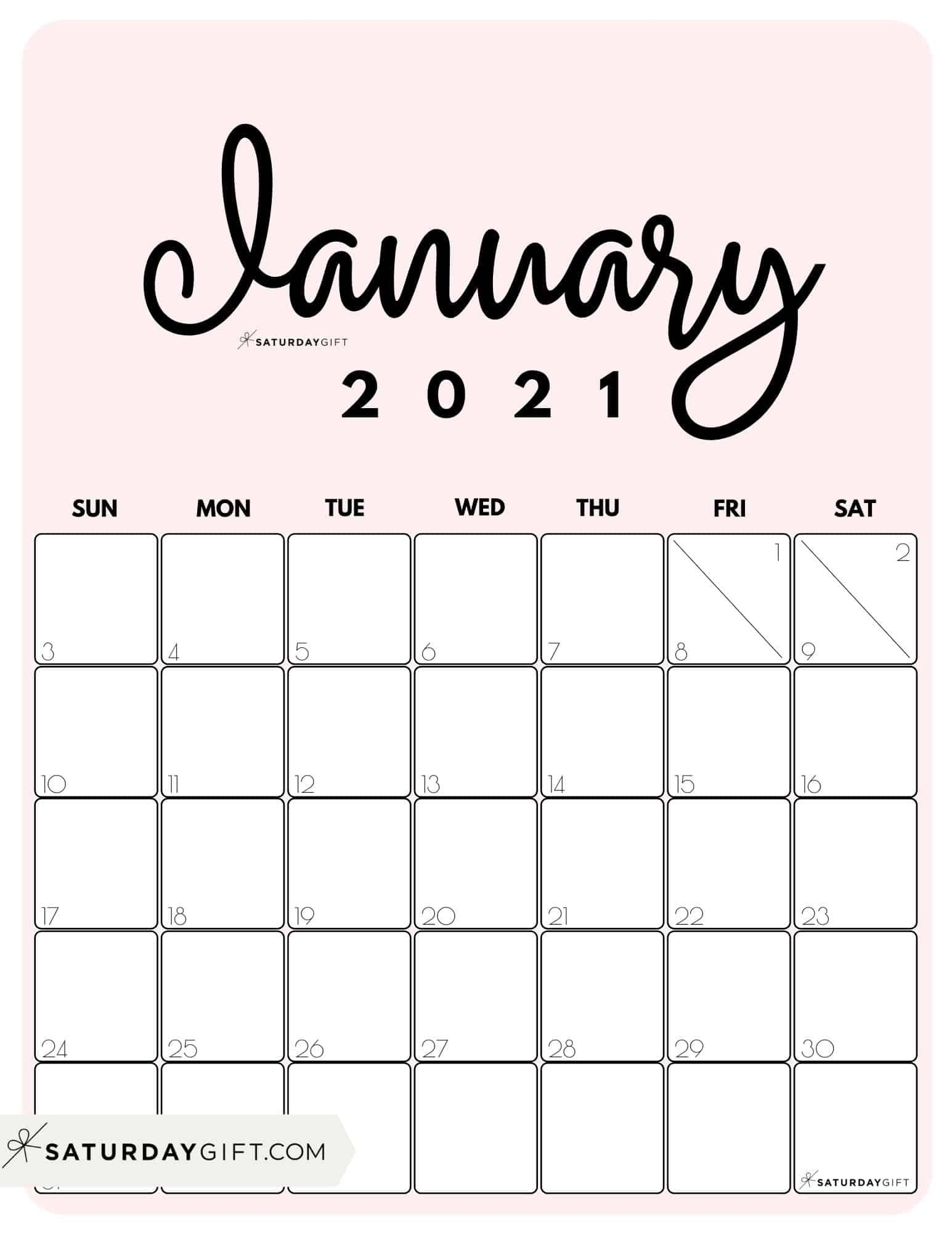 Pick Cute Free Printable Calendars 2021