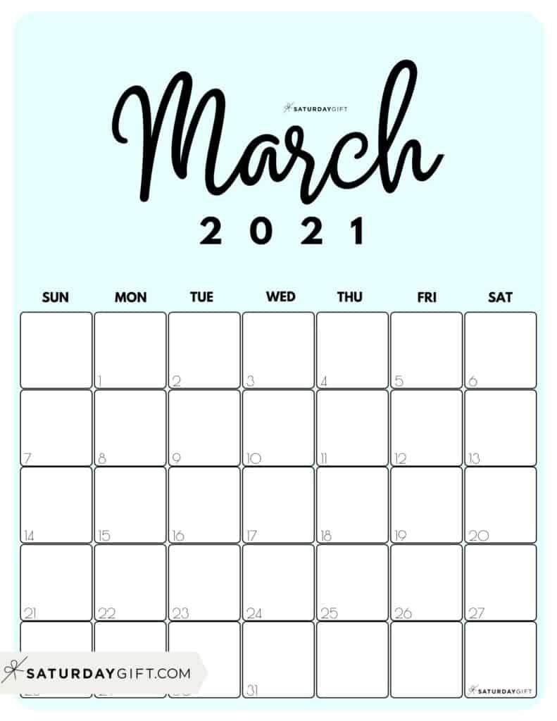 Pick Cute Printable Calendar 2021