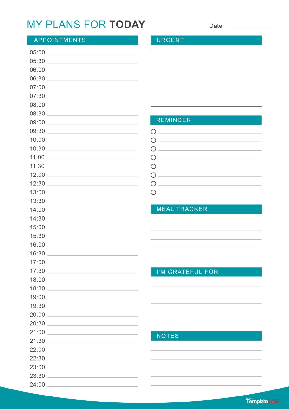 Pick Daily Organizer Free Printable Template