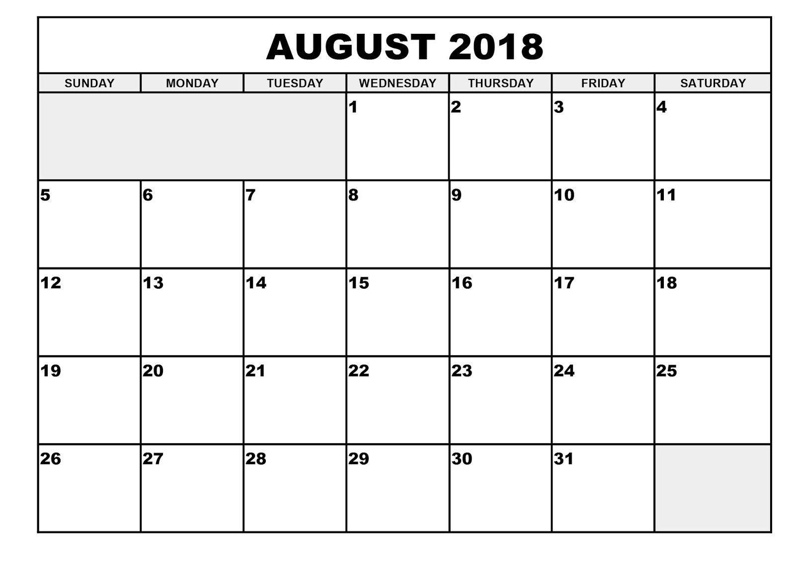 Pick Depo Date Calendar August