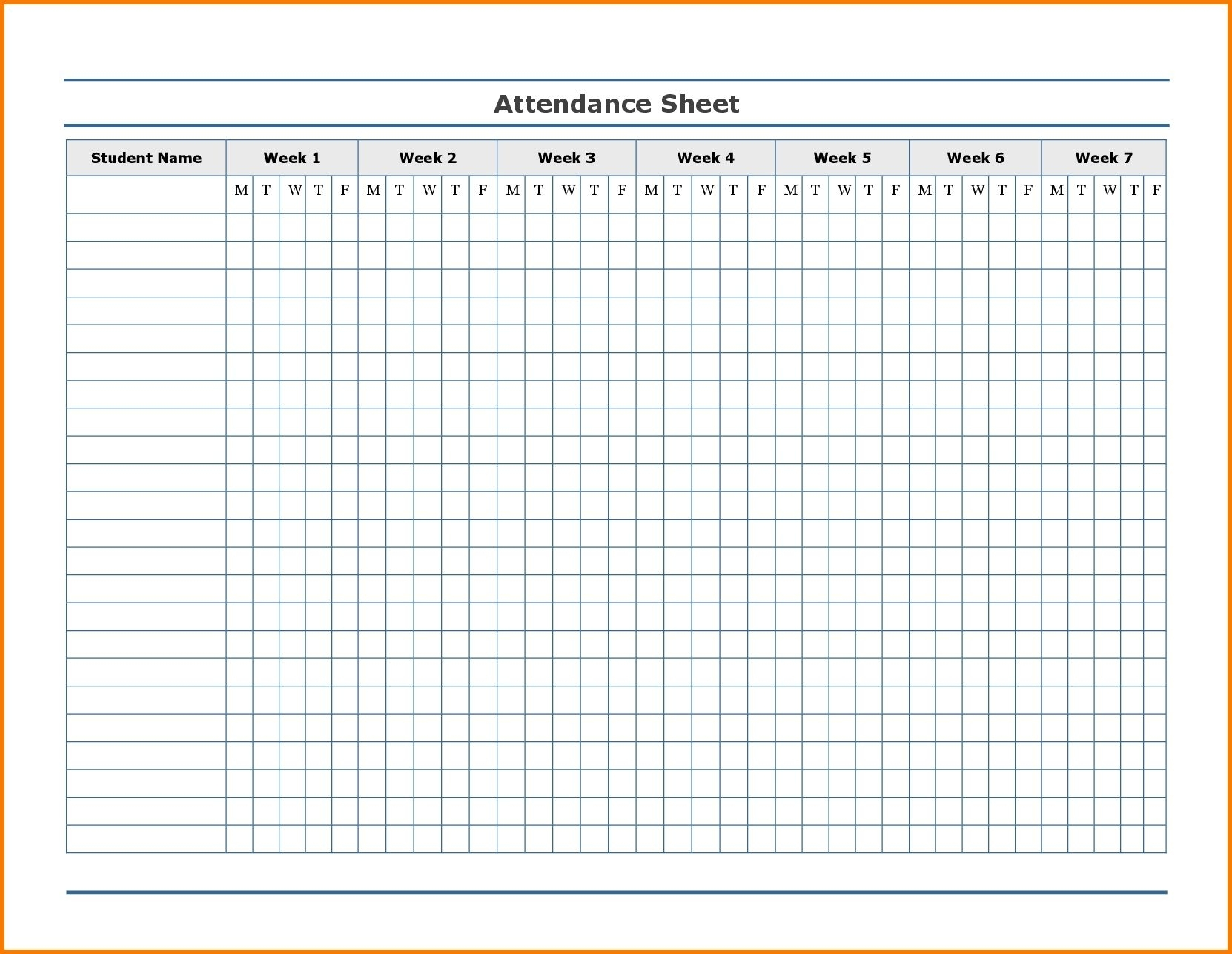 Pick Employee Attendance Template 2021