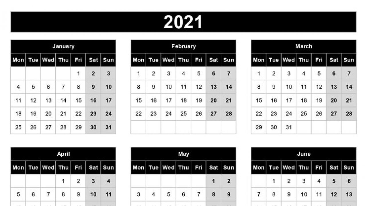 Excel 2021 Calendar Monday To Friday | Best Calendar Example
