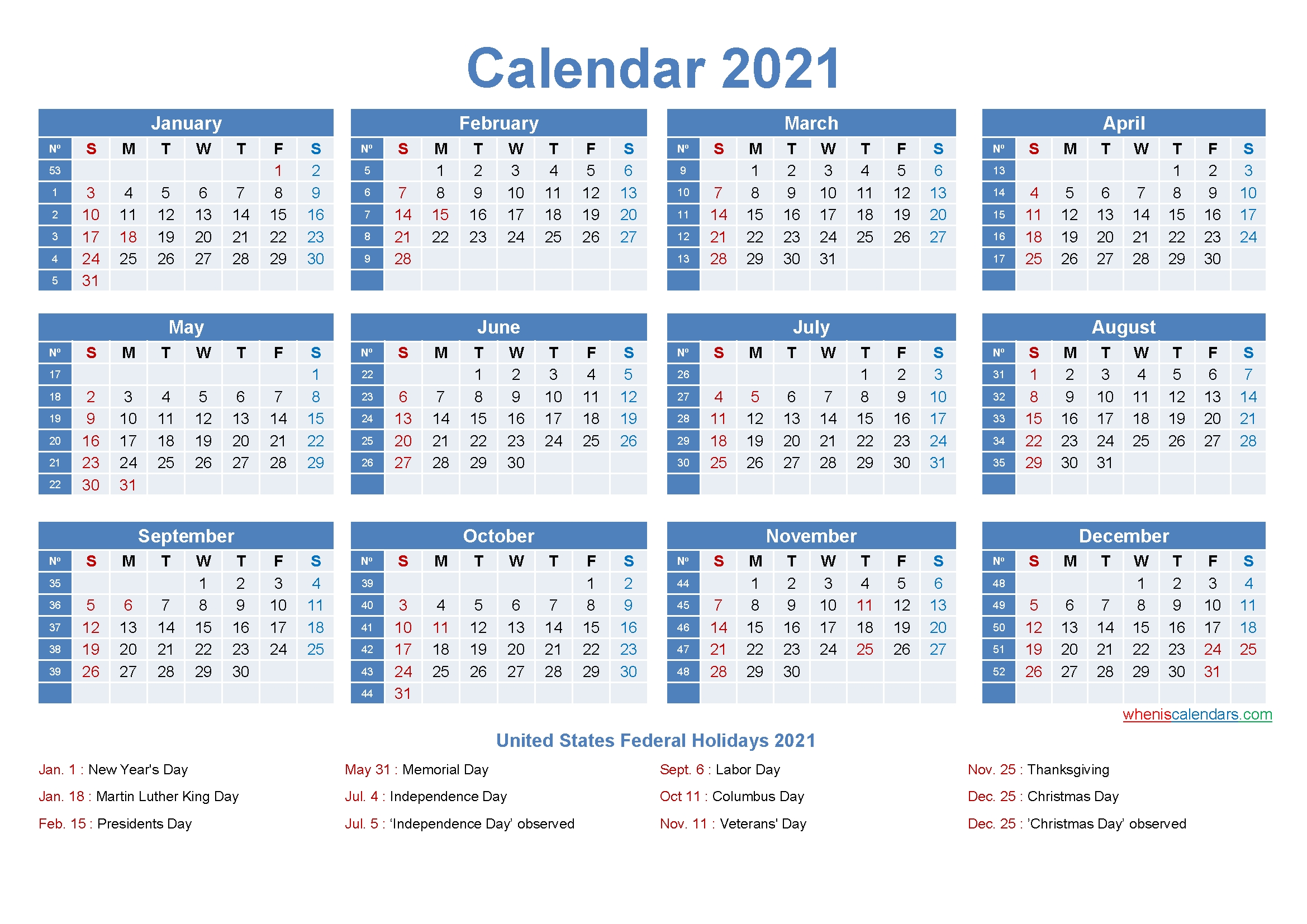 Pick Excel Calendar With Weeks 2021