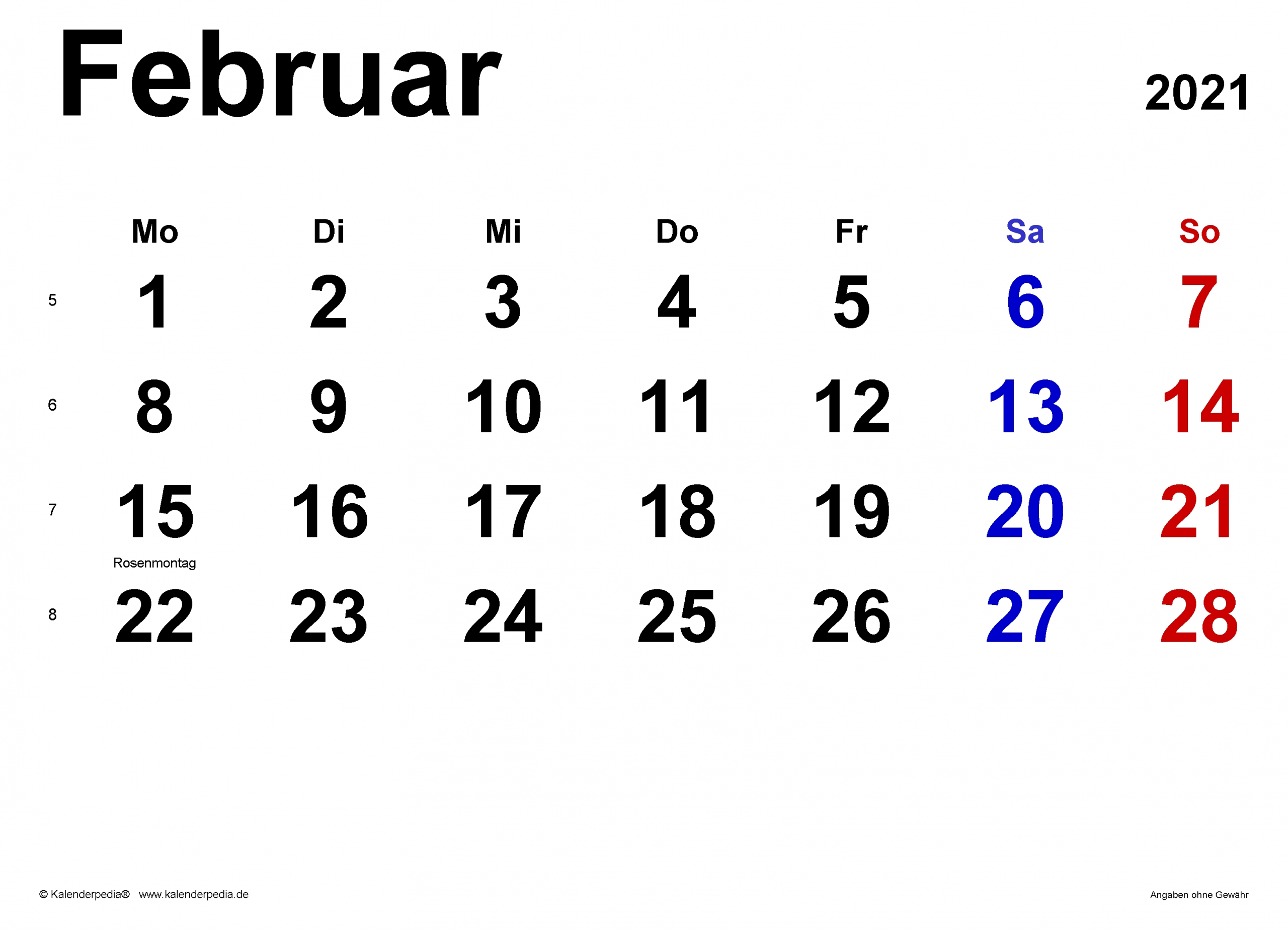 Pick Februar 2021 Druckvorlage