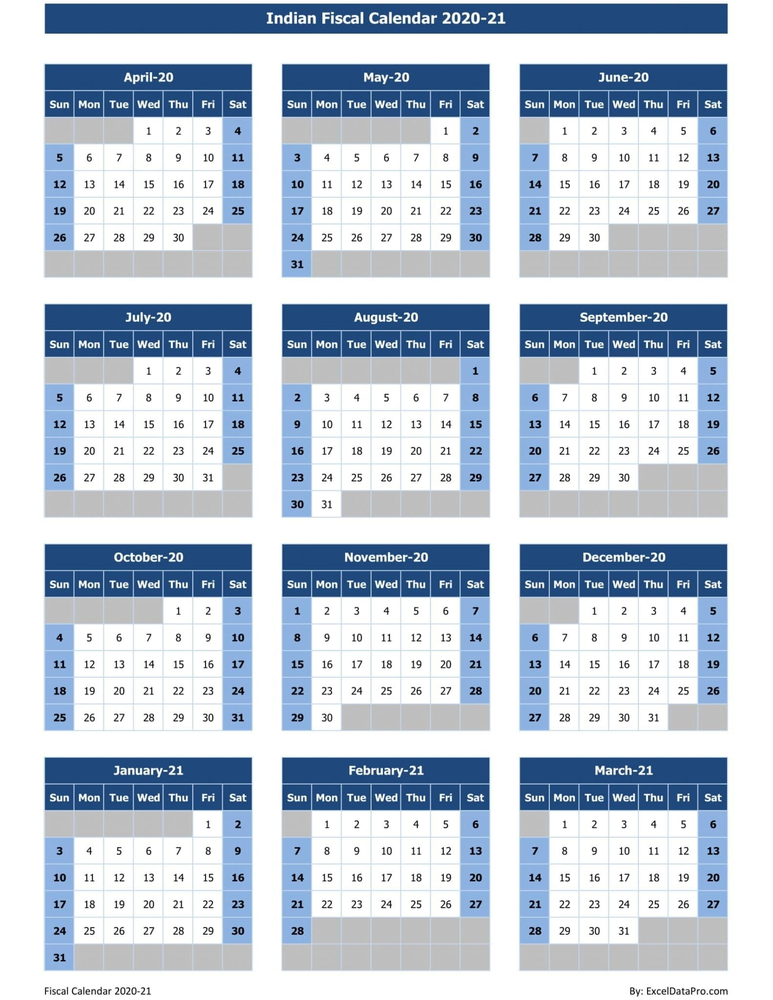 Pick Financial Year Calender With Week Numberes