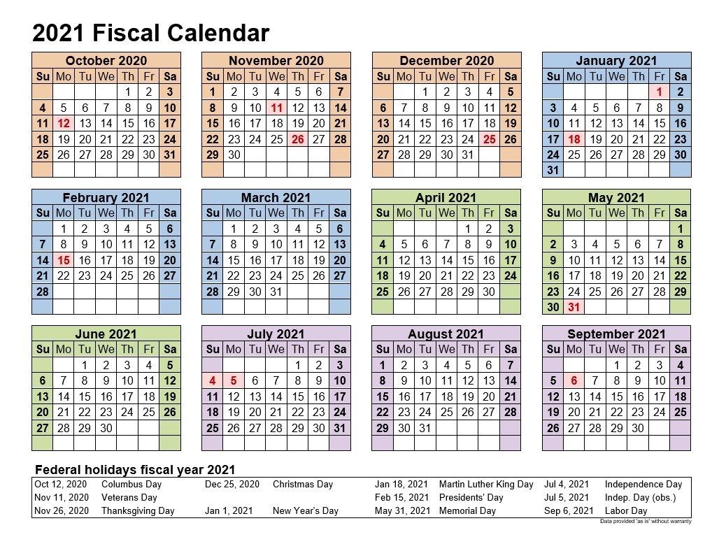 Pick Fiscal Year 2021 Week Numbers