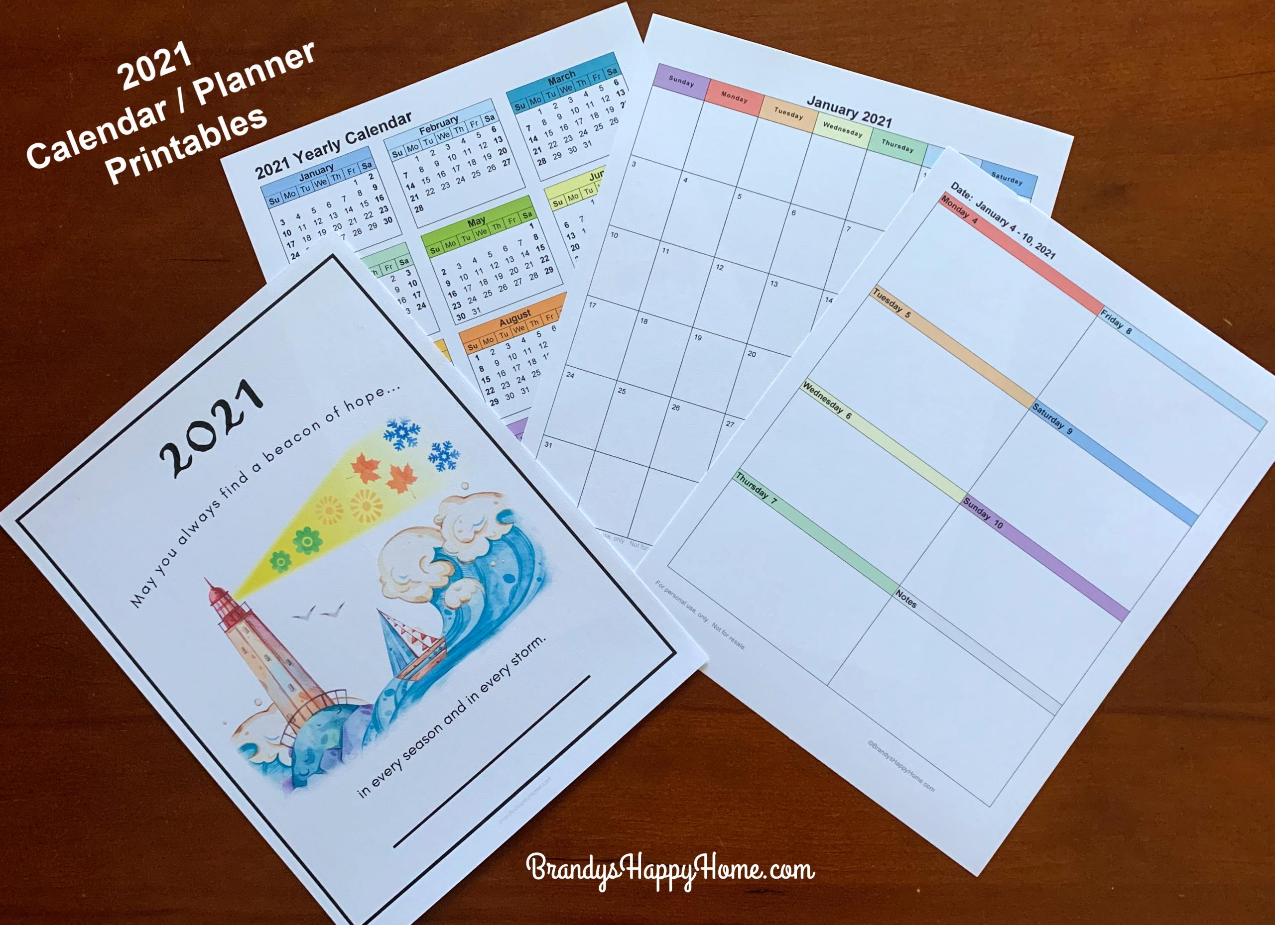 Pick Free 5X8 Weekly Planner Printables