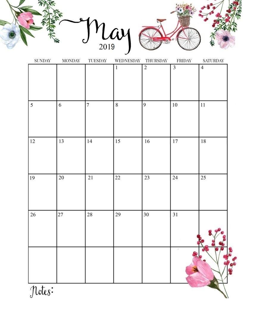 Pick Free Cute Monthly Calendar