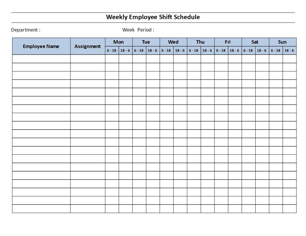 Pick Free Printable 12 Hour Weekly