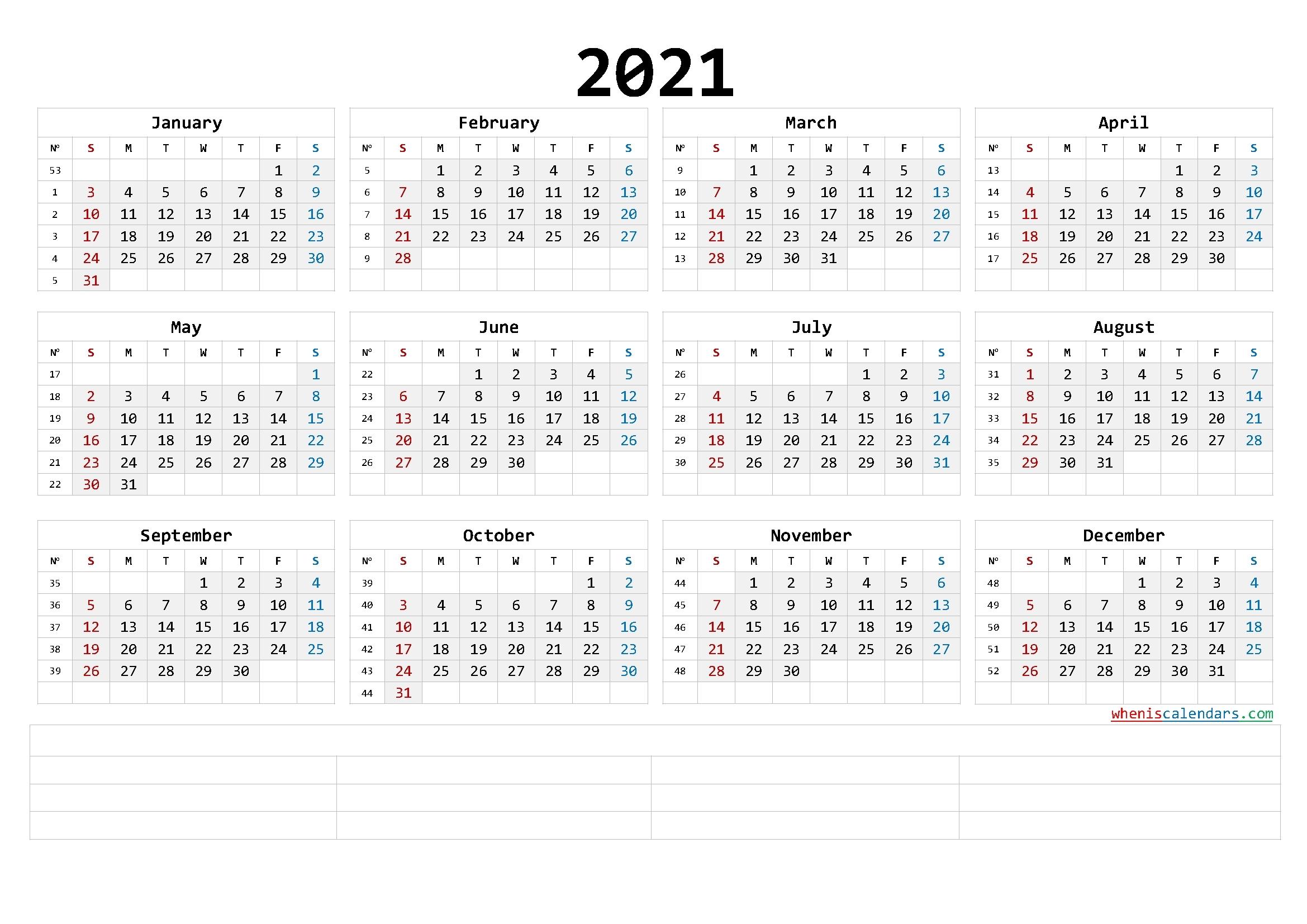 Pick Free Printable 2021 2021 Calendar Templates