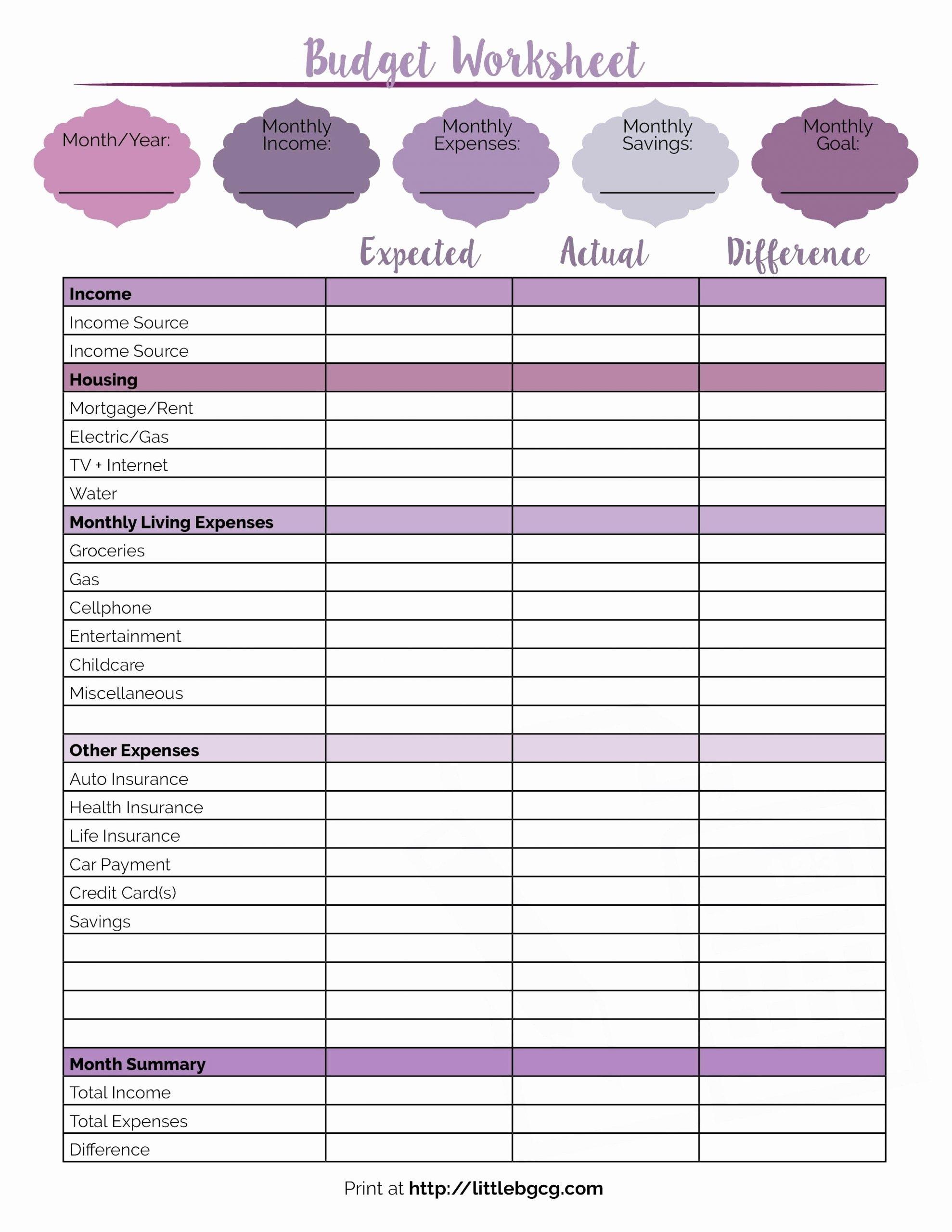 Pick Free Printable Biweekly Bill Planner