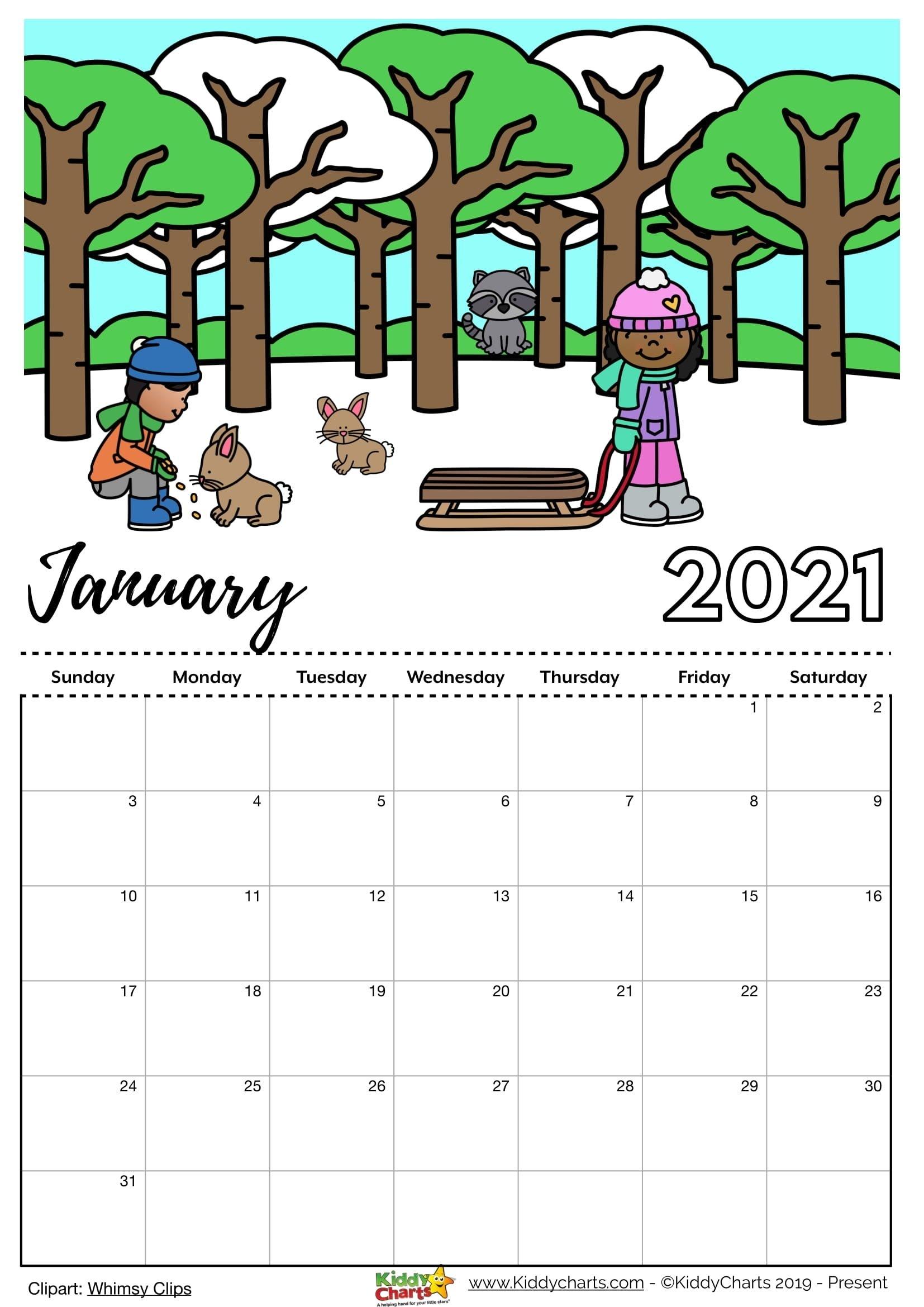 Pick Free Printable Coloring Calendar 2021