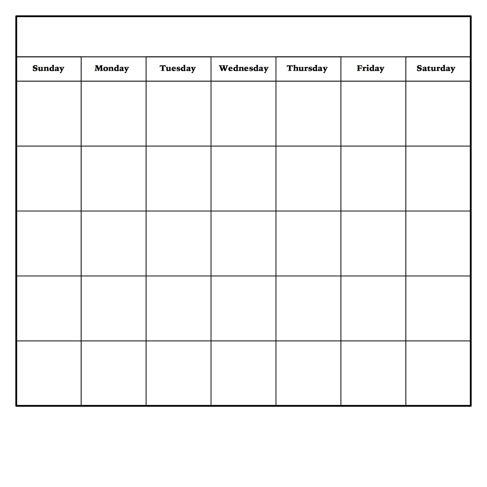 Pick Free Printable Monthly Calendar No Download