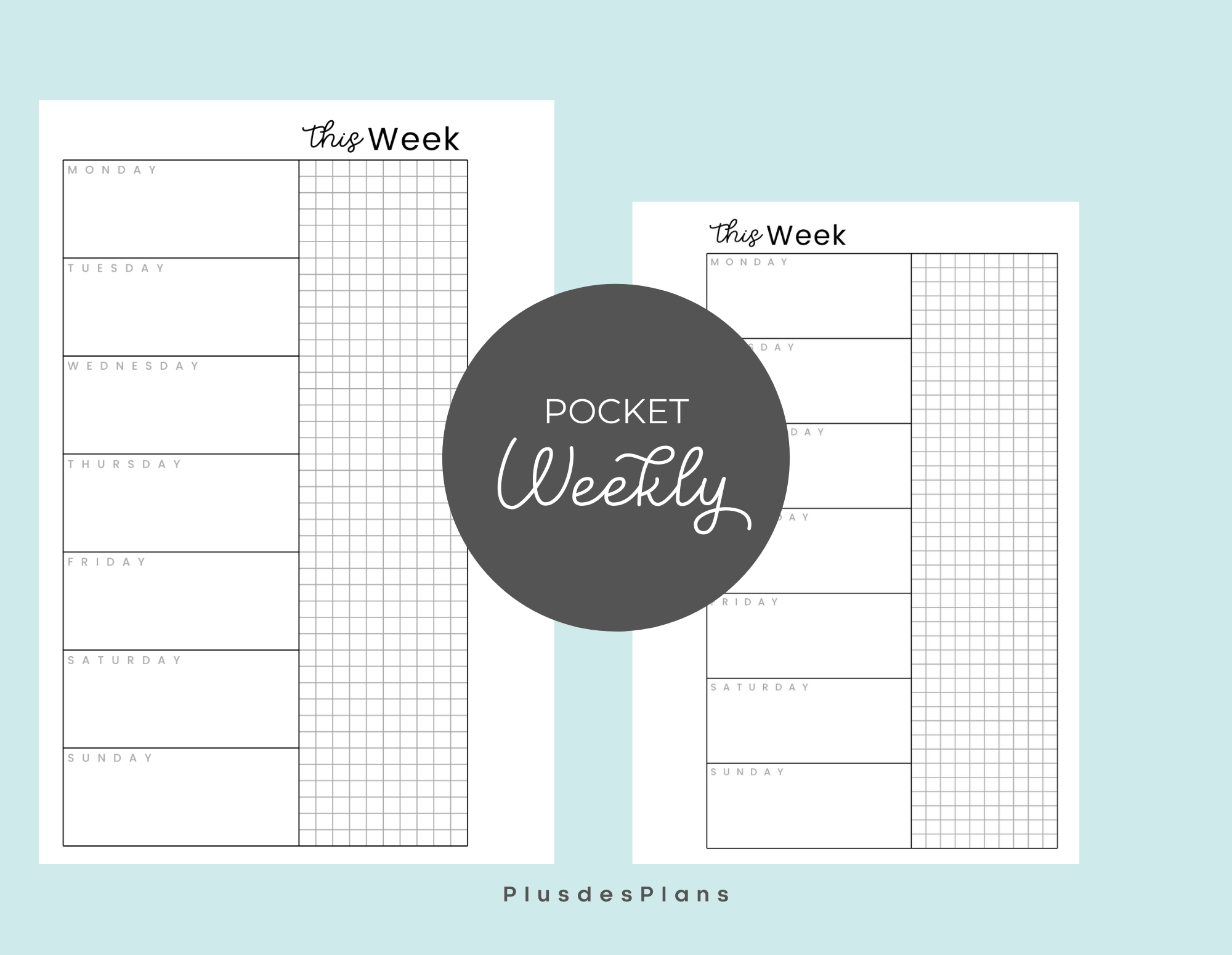 Pick Free Printable Pocket Planner