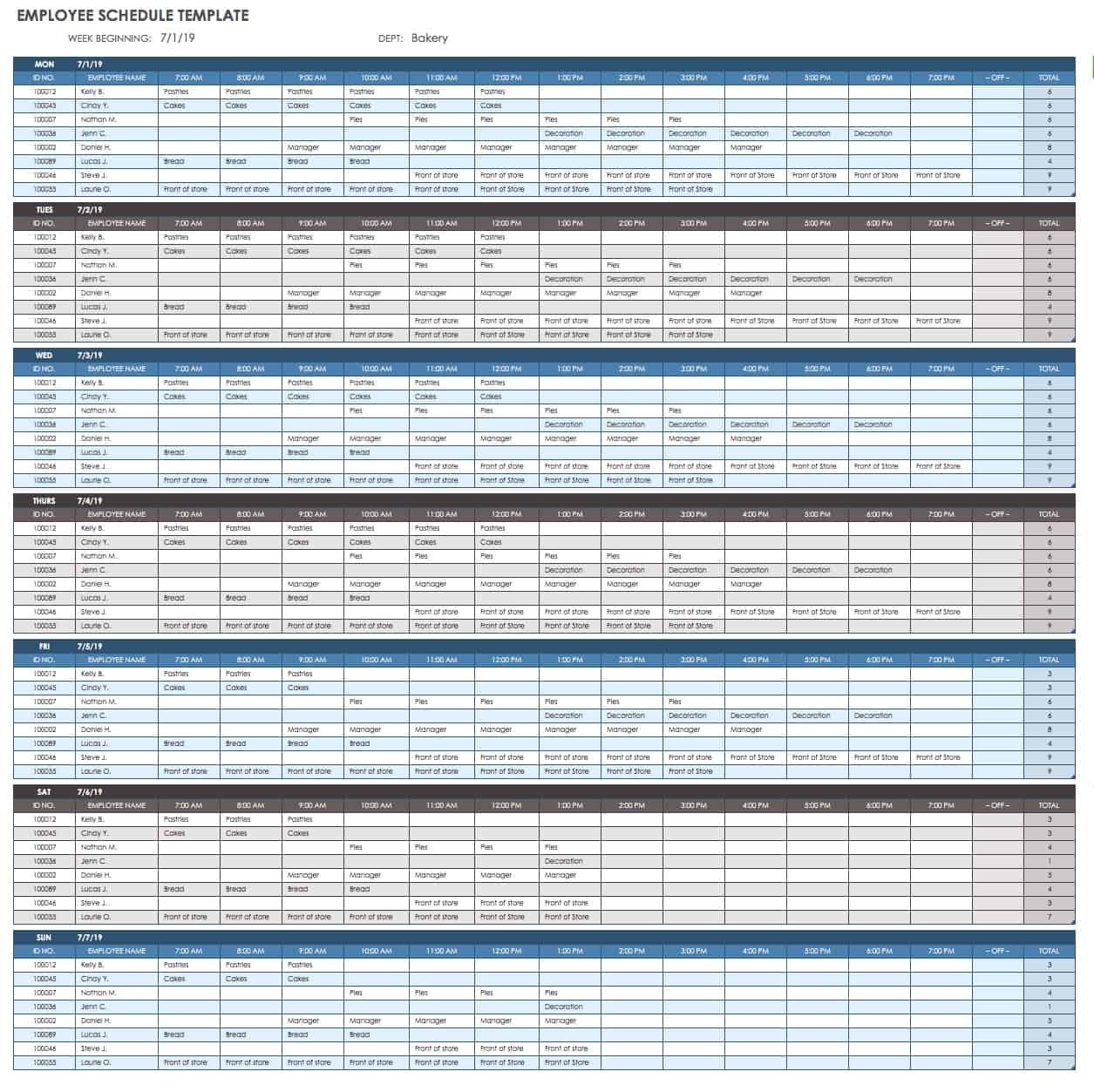 Pick Free Work Schedule