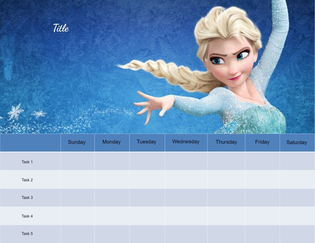 Pick Frozen Monday - Friday Star Chart