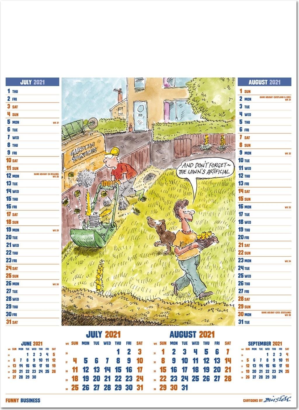 Pick Funny August 2021 Desktop Calendar