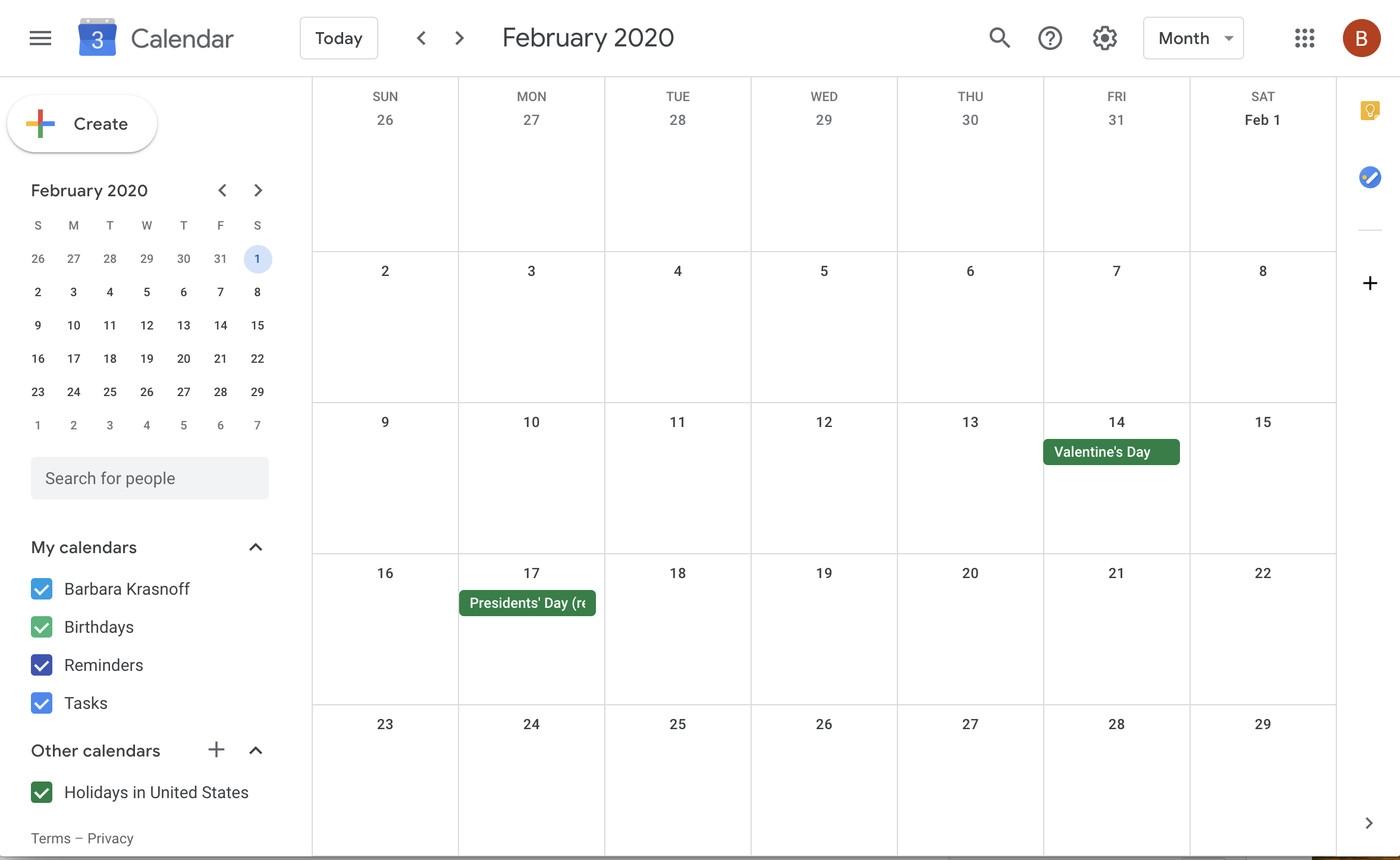 Pick Google Images Calendar