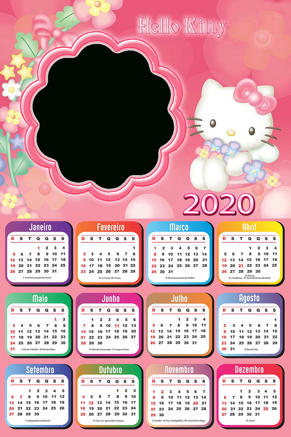 Pick Hello Kitty August 2021 Calendar