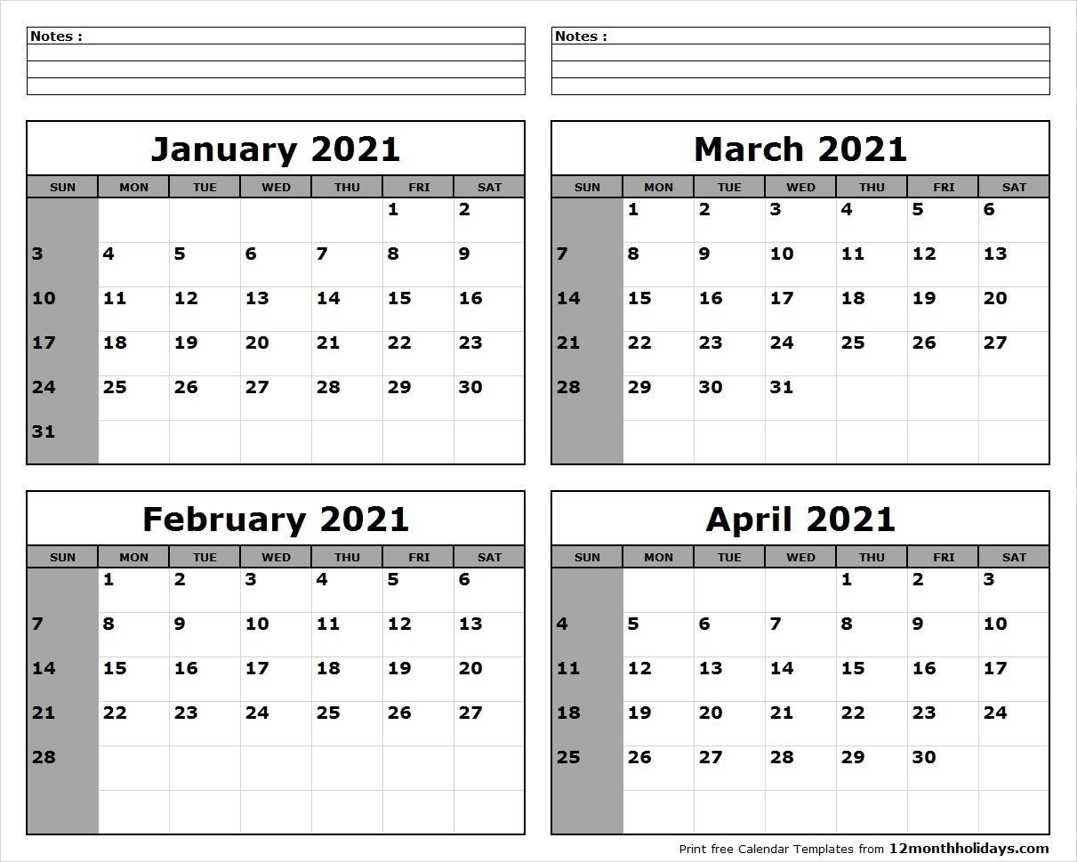 Pick Jan Feb Mar 2021 Calendar