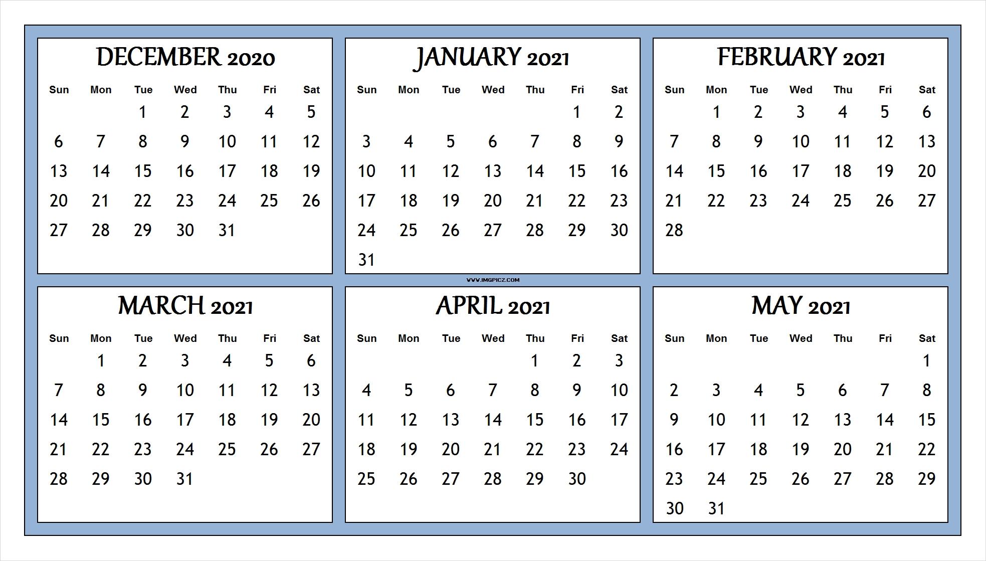 Pick Jan Feb Mar Apr Printable Calendar 2021