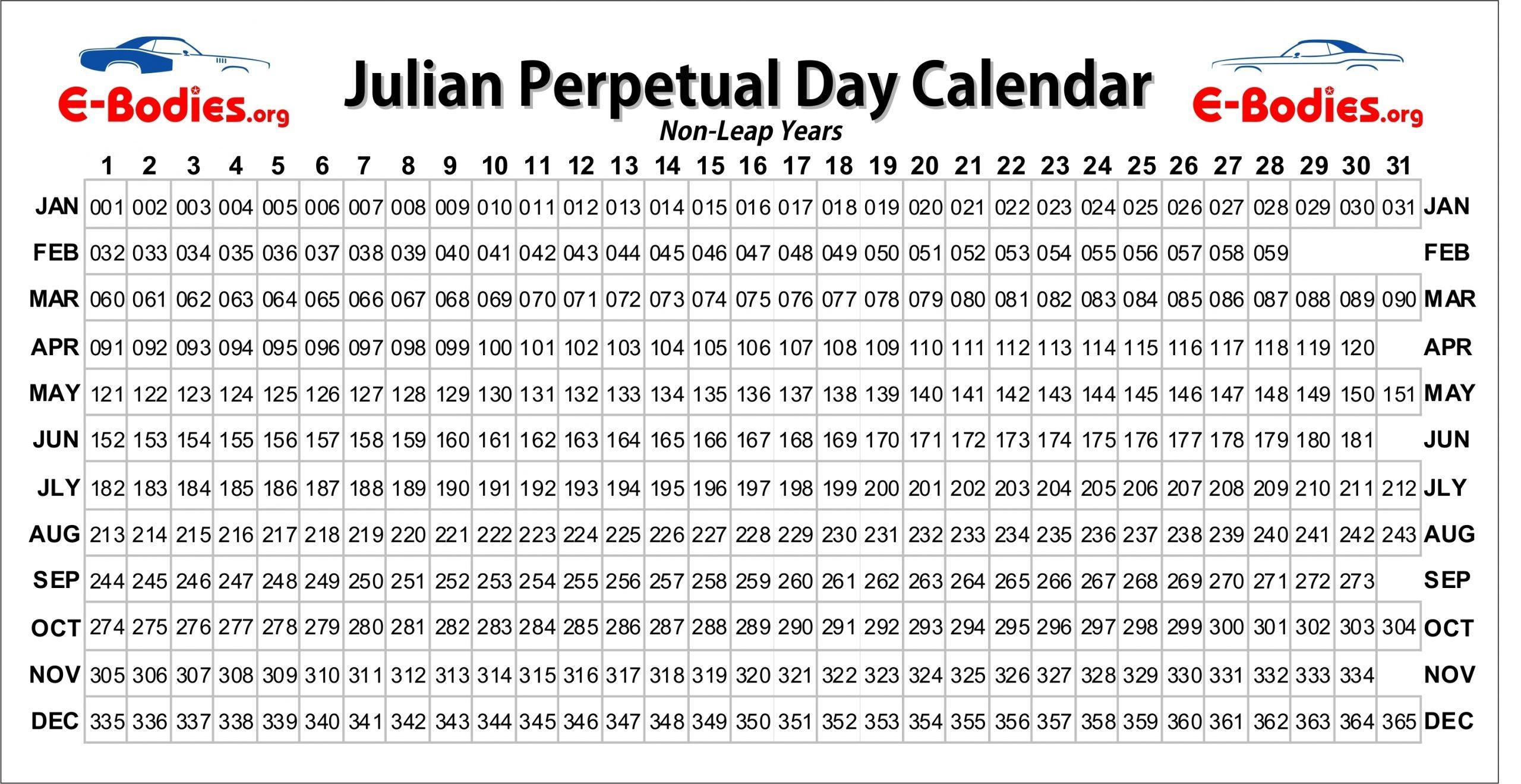 Pick Julian Calendar Calculator