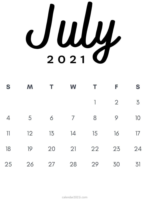 Pick July Calendar Free Screensavers 2021