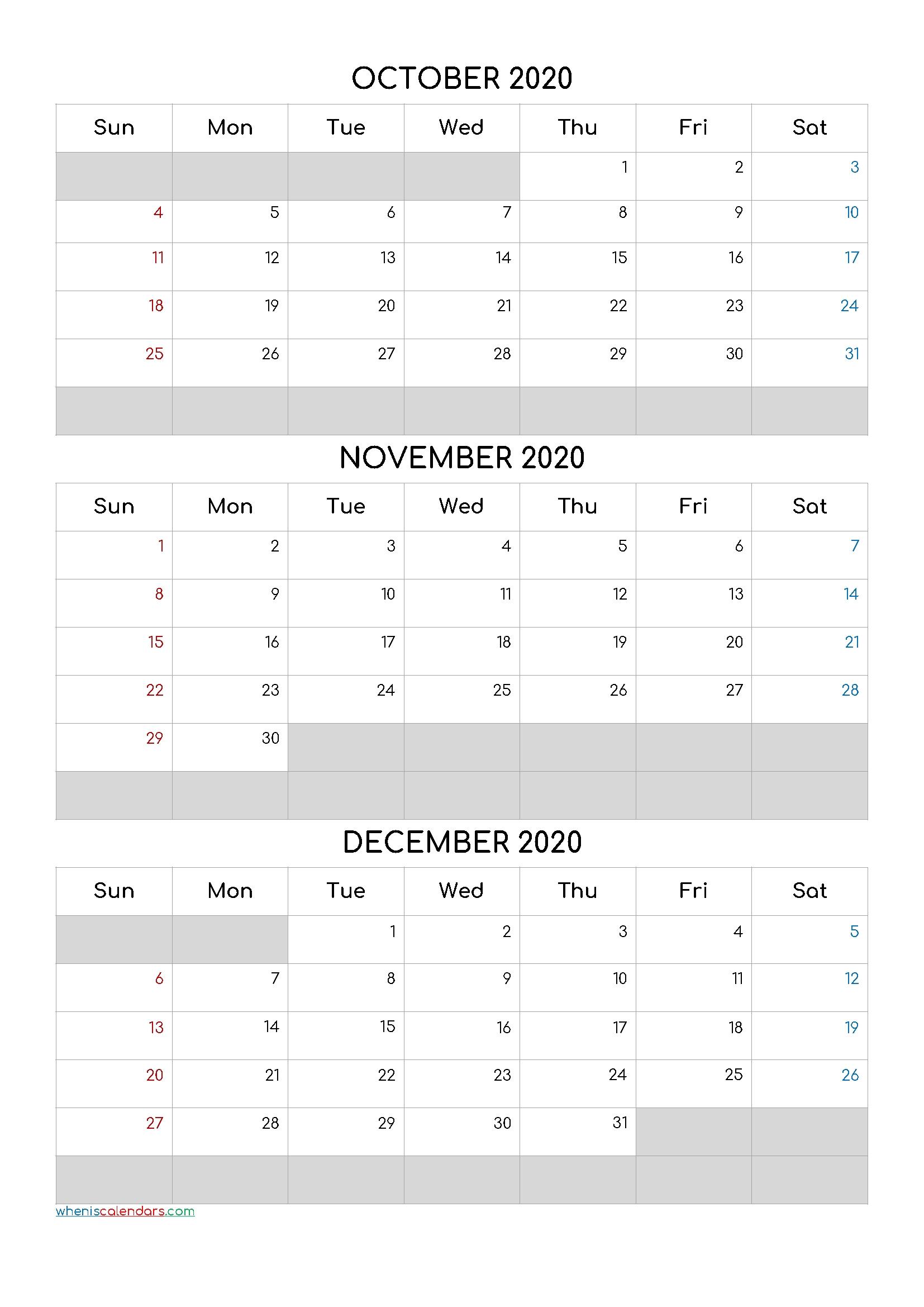 Pick Kalander Oktober November December 2021